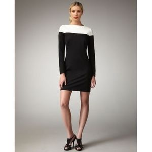 Trina Turk Black White Colorblock Sheath Dress